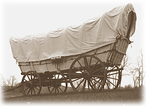Conestoga wagons hauled goods to the Old West.