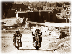 Dennis Hopper and Peter Fonda take to the road in the classic film, Easy Rider.