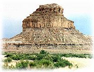 Fajada Butte in Chaco Canyon